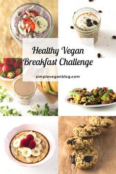 Join the healthy vegan breakfast challenge! We're going to make a healthy vegan breakfast recipe every single day for a whole week. Veggie Recipes, Vegetarian Recipes, Delicious Vegan Recipes, Healthy Recipes, Healthy Vegan Breakfast, Vegan Blogs, Vegan Life, Going Vegan, Food Inspiration