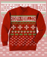 Get into the Holiday groove with this Crew Neck Sweatshirt! LIMITED QUANTITIES!!Holiday design on Red Crewneck Sweatshirt. Front Print only. PREORDER: SHIPS by 11/30