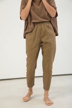 Clyde Work Pant in Clay Cotton Canvas – Elizabeth Suzann