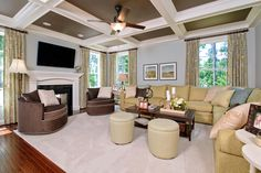 I love the ceiling!#ModelHome #sectional