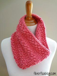 Fiber Flux...Adventures in Stitching: Free Knitting Pattern...Bubblegum Cowl!