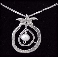 Pomegranate of Abundance Fertility Symbols, Washer Necklace, Pearl Necklace, Pomegranate, Amethyst, Abundance, Pearls, Stone, Pendant