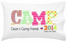 Camp Friends Girl Pillowcase