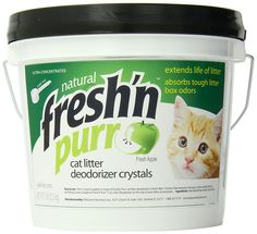 Fresh N  Fragrance Litter Deodorizing Crystals  Bucket, 5-Pound, Green Apple >>> To view further for this item, visit the image link. (This is an affiliate link and I receive a commission for the sales)
