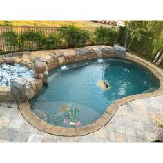 Having a pool sounds awesome especially if you are working with the best backyard pool landscaping ideas there is. How you design a proper backyard with a pool matters. Swimming Pool Mosaics, Small Swimming Pools, Small Pools, Swimming Pools Backyard, Swimming Pool Designs, Gunite Swimming Pool, Backyard Pool Landscaping, Backyard Pool Designs, Small Backyard Pools