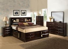 Storage Heaven.  The transitional style Welden queen bedroom collection will make you feel in storage heaven. The English Dovetail front and backs with Kenlin metal glide on all drawers enhances this transitional  look.  If you are looking for a bedroom set that would provide plenty storage space, look no further.  The Weldon set has been designed with your needs in mind. Each piece of the collection has numerous drawers with positive stops. The beautiful Espresso finish would add…
