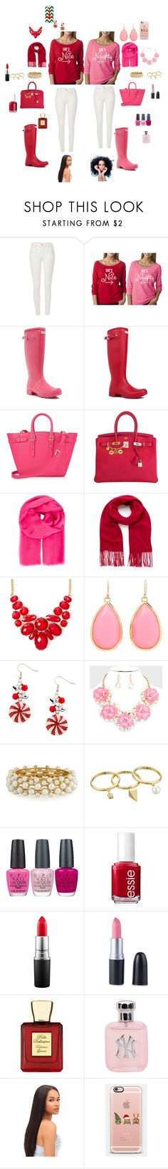 """besties chirstmas!!!!!!! #HOHOHOHO!!!!!"" by oliviaonfleek on Polyvore featuring River Island, Hunter, Aspinal of London, Hermès, Salvatore Ferragamo, Mulberry, Kate Spade, R.J. Graziano, Rebecca Minkoff and OPI"