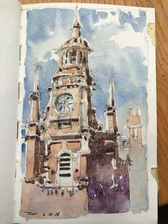 Iain Stewart Watercolors   The Tron, Glasgow