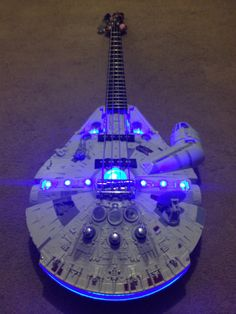 What do you get when you combine a 4 string bass guitar with an original Millennium Falcon model? THE REBEL BASS!