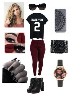 """""Hate You"""" by bruhitsbriannas on Polyvore featuring Chanel and Olivia Burton"