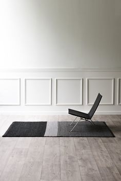 The Landscape rug took 2 years to realise, made of upcycled wool & upcycled Italian leather. Minimalist Interior, Minimalist Decor, Modern Interior, Interior Styling, Modern Decor, Nordic Home, Scandinavian Home, Next Rugs, Solid Rugs