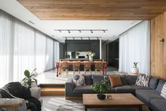 The Best Kitchen In Australia? Let us take you on a tour of the Ivy Lane Residence in Launceston, Tasmania Modern Lounge Rooms, Living Room Designs, Living Spaces, Home Suites, Sunken Living Room, Open House Plans, Lounge Design, Open Plan Living, Living Room Inspiration