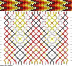 Muster # 888, Streicher: 24 Zeilen: 18 Farben: 6