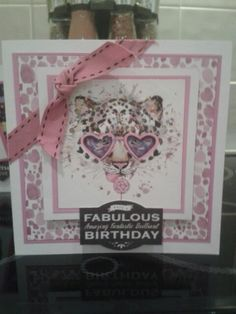 Have a Fabulous birthday card using free papers from Making Cards magazine.