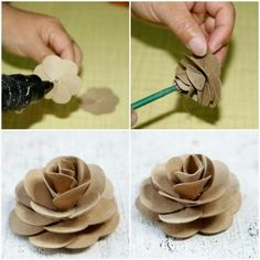1 million+ Stunning Free Images to Use Anywhere Toilet Paper Flowers, Paper Flowers Diy, Flower Crafts, Rose Crafts, Paper Towel Roll Crafts, Paper Towel Rolls, Toilet Paper Roll Art, Toilet Paper Roll Crafts, Egg Carton Crafts