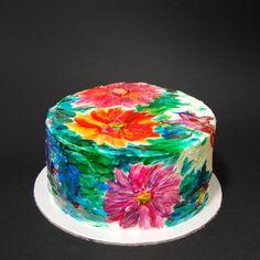 Когда в душе весна бушует🤗 Из всех видов декора торта, живопись мой самый любимый. Обожаю лепить и рисовать. Ну так как дома уже картины…