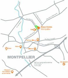 Plan d'accès Aéro School Montpellier