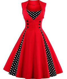 Tempt me Women's Vintage 1950s Polka Dots Patchwork Party... https://www.amazon.com/dp/B01MXOL7BD/ref=cm_sw_r_pi_dp_x_s3cGybFTCKARD