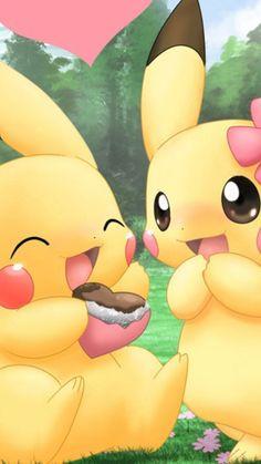 love, pikachu, and pokemon Bild