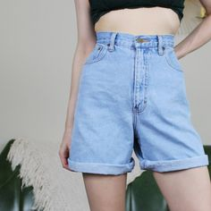 1f90a49e5e Eddie Bauer vintage high waisted blue jean denim shorts #lee - Depop 90s  Shorts,