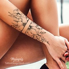 """Sexy tattoo design - """"Amazing Tattoo starts with a quality drawing first … """" All our tattoo designs are authentic - Unique Half Sleeve Tattoos, Feminine Tattoo Sleeves, Feminine Tattoos, Half Sleeve Flower Tattoo, Feminine Shoulder Tattoos, Half Sleeve Tattoos Drawings, Quarter Sleeve Tattoos, Forearm Flower Tattoo, Mandala Tattoo"""