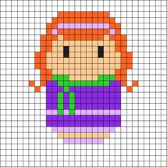 Daphne - Scooby-Doo Perler Bead Pattern