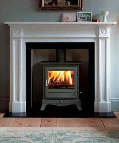 Chesneys Beaumont Multifuel Stove in Black - Wood Burning Fireplace Inserts Bedroom Fireplace, Wood Bedroom, Living Room With Fireplace, Home Living Room, Living Room Designs, Living Room Decor, Master Bedroom, Wood Burner Fireplace, Wood Burning Fireplace Inserts