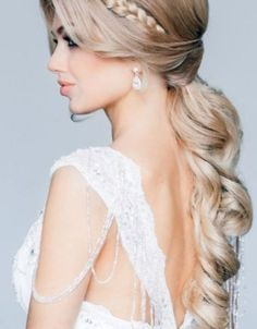 curly elegant twist wedding hairstyles for long hair