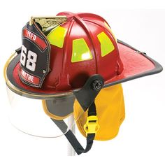 "Cairns Helmets 880 Traditional Thermoplastic Firefighter Helmet w/ 4"" Faceshield 880FS"