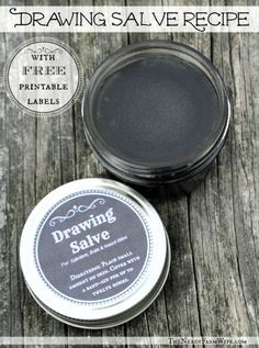 Homemade Drawing Salve Recipe. A drawing salve is a homemade preparation that you apply to splinters, boils or insect bites. I have family members who live in rural areas and chop wood for their fireplaces. Despite wearing gloves, they end up with a lot of splinters. They use black drawing salve and it works!