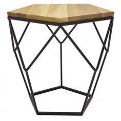 Odkládací stolek Lexxi, černá, dub