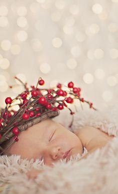 Christmas newborn photo