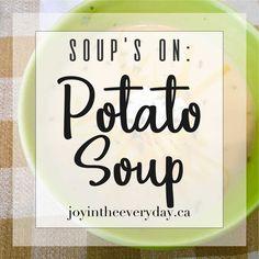 soup's on ~ potato soup Dairy Free Soup, Dairy Free Milk, Potato Mashers, Potato Soup, Baked Potato Toppings, Ham Bone Soup, Vegetable Crisps, Seafood Soup, Roasted Meat