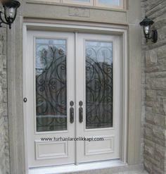 Beyaz bir kapıya nasıl bir görünüm verebilirsiniz ferforjesiz olurmu demeyin beyazla metalin buluşması