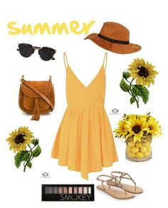 """Summer"" by kayearnold on Polyvore featuring Glamorous, Accessorize, Chloé, Christian Dior, Black Rivet, Forever 21, Pier 1 Imports, women's clothing, women and female"