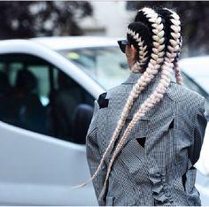 Braids, white, black, long, pretty, street, car, male, female