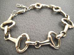Equestrian Bracelet Horse Bit Bracelet Silver by COOLMensJewelry, $33.00