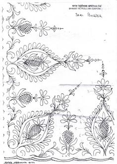 Needlecraft: 70's Jacobean Style Embroidery Design Yeah, author's right, it wold look nice in crewel. But It's labelled as a sari pattern... and very definitely more indian in design than Jacobean...