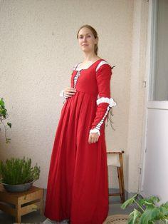 red gamurra - Florentine late 15th century  ¡Quieroooooooo!