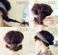 Headband tuck. Cute and sexy. Nice to wear on a hot day.