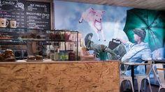 Candide café - OSB bar - Murale Graffiti - Montréal - Canada