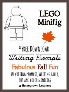 Free Fall Themed LEGO Writing Prompt Set - repinned by @PediaStaff – Please Visit ht.ly/63sNtfor all our ped therapy, school & special ed pins