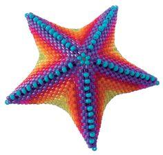 Dana Steen Witker star, Jean Power pattern, Contemporary Geometric Beadwork 2012