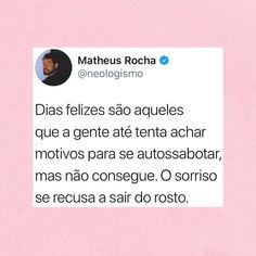 São os melhores dias, né? Reflection Quotes, Thoughts And Feelings, Poetry Quotes, Psychology, Self, Love You, Inspirational Quotes, Woman, Twitter