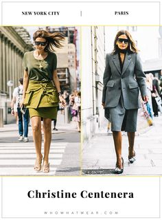 New York vs. Paris: How Style Stars Dress in Different Cities via @WhoWhatWear  Collage Vintage