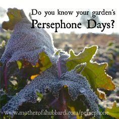 Calculating Your Garden's Persephone Days