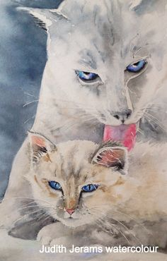 Wash time with Love. Watercolour painting by artist Judith Jerams.