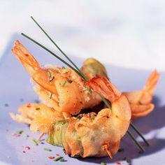 Crevettes croustillantes aux poireau