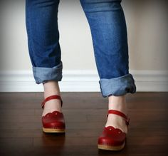 Sandgrens Red Milan Clogs | The Best of this Life