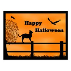 Happy Halloween Postcard - diy cyo customize create your own personalize
